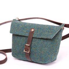 Harris Tweed Green Dolly Bag | Breagha