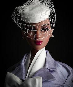 The Studio Commissary:  Veiled Violet in Violet (theme photo)  -  Posted by Tom in CA [Email User] on August 31, 2017, 6:55 pm.  Suit and hat by Matisse Fashions.  Enjoy!    Tom in CA