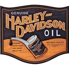 old oil sign