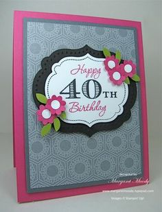 Classy 30th 40th Or 50th Bday Card