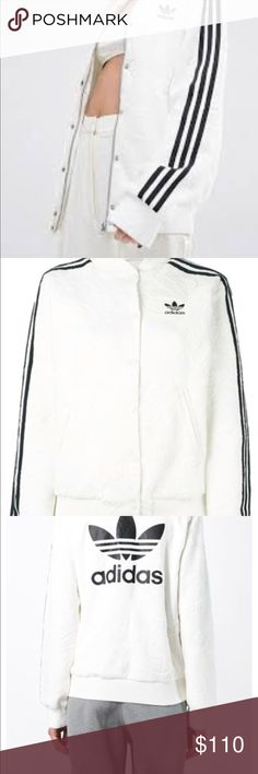 **RARE** ADIDAS LACE BOMBER White lace bomber  **RARE* no longer sold in store adidas Jackets & Coats