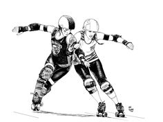 Roller derby girls. Jammer.