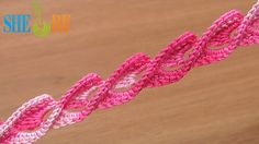 3D Crochet Braid Twisted Ribbon Tutorial 45 Crochet Around Post  http://sheruknitting.com/videos-about-knitting/romanian-lace-ribbons-and-cords/item/374-crochet-around-post-braid.html  In this tutorial you will see how to make a beautiful crochet braid / crochet ribbon. This is a great pattern for bracelets, necklaces, belts and decorations. On the front of this ribbon there are waves of stitches that are worked around the treble post.