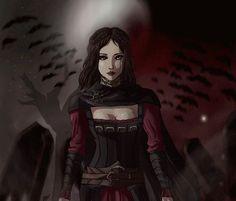 Fan art of the hot Vampire Serana.