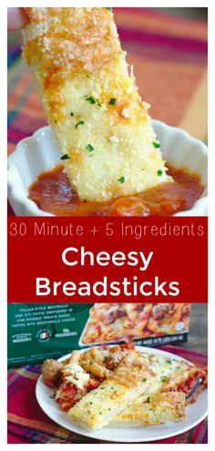 30 Minute Cheesy Breadsticks – A quick and easy side dish made with just 5 simple ingredients. The perfect addition to an Italian meal from from Breadstick Recipe Bread Appetizers, Italian Appetizers, Easy Appetizer Recipes, Appetizers For Party, Snack Recipes, Healthy Recipes, Cheese Recipes, Bread Recipes, Dinner Recipes