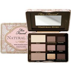 Too Faced Natural Eyes Palette ($37) ❤ liked on Polyvore featuring beauty products, makeup, eye makeup, eyeshadow, palette eyeshadow and too faced cosmetics