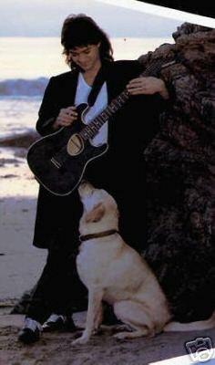 Eddie Van Halen with a very cute dog!