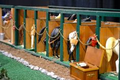 Breyer models were used at the 2013 Intercollegiate Horse Show Association (IHSA) Nationals! Riders selected a Breyer from the stable, and each model horse had the ID of the real horse the competitor would be riding! Neat idea!