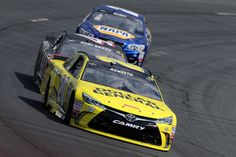Chase Elliott Photos Photos - Matt Kenseth, driver of the #20 Dollar General Toyota, leads Kurt Busch, driver of the #41 Haas Automation/Monster Energy Chevrolet, and Chase Elliott, driver of the #24 NAPA Auto Parts Chevrolet, during the NASCAR Sprint Cup Series New Hampshire 301 at New Hampshire Motor Speedway on July 17, 2016 in Loudon, New Hampshire. - NASCAR Sprint Cup Series New Hampshire 301