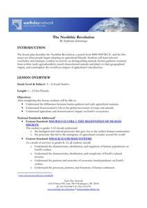 The Neolithic Revolution Lesson Plan for - Grade Social Studies Worksheets, Study Tips, Teaching Resources, Revolution, Paleo, College, Teacher, How To Plan, Education