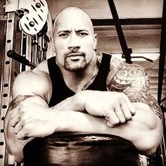 Dwayne Johnson...Can we say calm sexy... thats kinda scary but exciting. Woosh!