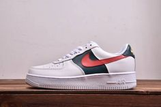 d9aaaef50d3 Custom Gucci x Nike Air Force 1 Low Red and Green Stripes Air Force 1