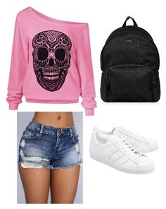 """Untitled #618"" by lydiaubblegum on Polyvore featuring adidas Originals and Hogan"