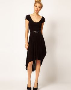 Black Asymmetric Dress - Fashion Philosophy