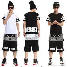 Wholesale Camisa Polo Tomy - Buy Ktz Rhude Bapes Hood By Air Bandana Shirt Harajuku Pyrex Women Men Hiphop Clothes Hip Hop Dance Clothes Personality T Shirt 2014 Fashion, $9.8 | DHgate