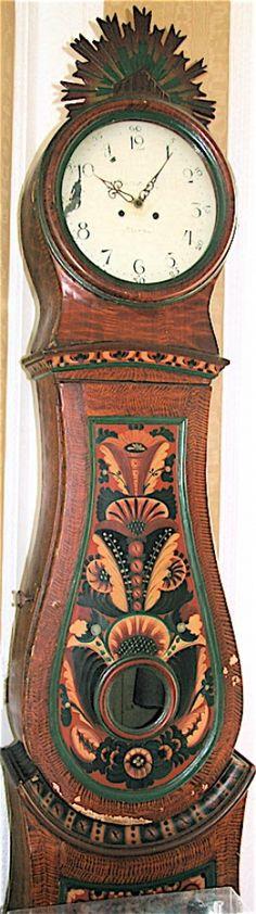 Swedish Folk Art tall clock