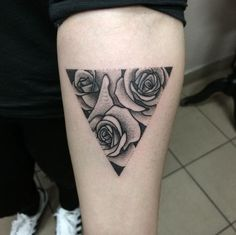 Rose Triangular Glyph Tattoo by Klaudia Hołda