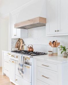 """161 Likes, 2 Comments - Williams Sonoma Home (@wshome) on Instagram: """"Don't overlook what's under, or in this case, on the hood! This beautiful wood hood helps bring the…"""""""
