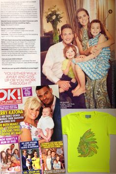 #CAKOKids featured in this weeks  #OK! #Magazine #UK  Gary Lucy's Son Elvis wears CAKO's new #SS14 #Indian #Headdress #Fluo #Yellow #Tshirt :))) #British #brand #CAKOTs #boys #style #fashion #exclusive #boutique #apparel  www.cakoboutique.com @CAKO boutique