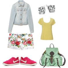 Campus outfit, created by colorfulcolorz on Polyvore