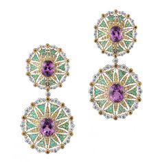 Buccellati kunzite earrings