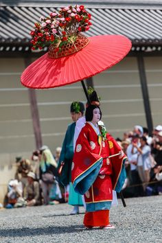 "Aoi Matsuri Parade, Kyoto - Aoi Matsuri Parade This is the annual festival of Shimogamo - jinja Shrine and Kamigamo - jinja Shrine. Its actual name is Kamo Festival. Along with the Gion Festival and the Jidai Matsuri (Festival of Ages), it is one of the three big festivals in Kyoto. Featured is a gorgeous parade in the style of the ancient Heian Court. Everything in the parade is adorned with the hollyhock leaf crest, also called ""aoi"" _ thus the name of the festival…"