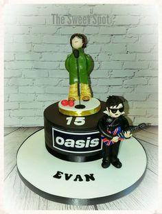 Music Guitar, Cool Guitar, Rock Cakes, Guitar Cake, Music Bands, Birthday Cake, Shapes, My Favorite Things, Sweet