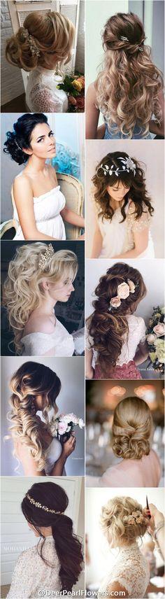 Wedding Hairstyles : 1000 Wedding Hairstyles for Long Hair Wedding Hairstyles For Long Hair, Bride Hairstyles, Messy Hairstyles, Pretty Hairstyles, Hairstyle Wedding, Bridesmaid Hair, Prom Hair, Wedding Makeover, Cute Wedding Ideas
