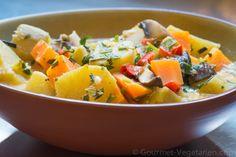 Soupe colorée à la patate douce!