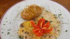 Pečené harmonika zemiaky so syrom Quiche, Chicken, Meat, Food, Essen, Quiches, Yemek, Buffalo Chicken, Cubs