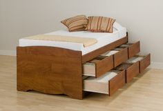Single Size Bed with double deck storage