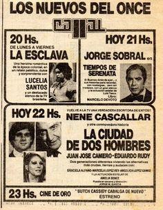 Publicidad de la programación de CANAL 11, Buenos Aires, 1981.