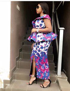 peplum ankara skirt and blouse: check out 25 + stylish peplum ankara skirt and blouse styles to Rock African Print Dress Designs, African Print Dresses, African Print Fashion, Africa Fashion, African Prints, Latest African Fashion Dresses, African Dresses For Women, African Attire, Latest Fashion