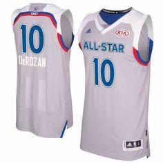 $22 Men's Eastern Conference #10 DeMar DeRozan adidas Gray 2017 NBA All-Star Game Swingman Jersey