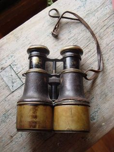 Nautical Instruments - Antique ship navy binoculars by Iris de Paris … Vintage Nautical, Retro Vintage, Nautical Theme, Vintage Style, Objets Antiques, Iris, Instruments, Safari Chic, British Colonial Style