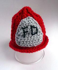 Firemen Hat Firemen Helmet Hat Newborn by LittleMommaBoutique, $20.00