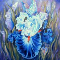 """""""In the World of Iris"""" painting oil on canvas, by Aurora Lunic Iris Painting, Aurora, Oil On Canvas, Cool Stuff, World, Artworks, Flowers, Check, The World"""