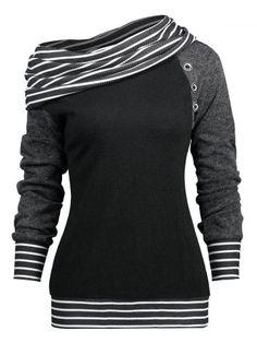 Gamiss T Shirt Women Stripe Trim Skew Neck Raglan Long Sleeve T-Shirts Wi. Gamiss T Shirt Women Stripe Trim Skew Neck Raglan Long Sleeve T-Shirts Winter Spring Womens Tops Tees Shirt Casua. Hoodie Sweatshirts, Pullover Shirt, Sweat Shirt, Tee Shirt, Shirt Outfit, Collars For Women, Spring Shirts, Casual Tops For Women, E Bay