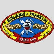 USS Benjamin Franklin (SSBN 640), 1964, the lead ship of her class of ballistic missile submarine, crest.