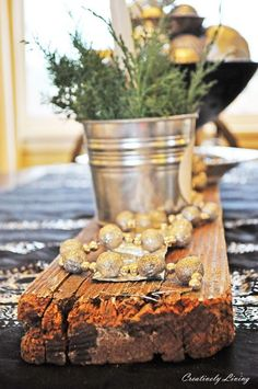 DIY:: Salvaged Wood Centerpiece