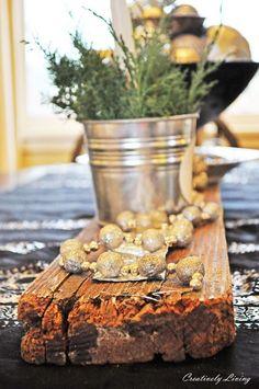DIY:: Salvaged Wood Centerpiece