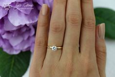 1/2 carat 14k Yellow Gold Ring 4 Prong Solitaire by TigerGemstones