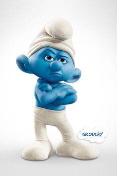 The Smurfs are so cute....i want one