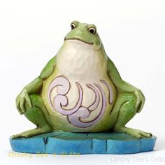 Jim Shore Heartwood Creek Pint Sized Lazy Frog 4047081 NEW
