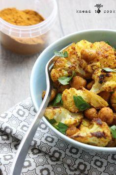 Tikka Masala Spiced Chickpeas and Cauliflower