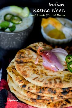 Sharing with you, a famous variation of Restaurant-Style Indian Naan bread, stuffed with ground lamb meat, named Keema Naan. If you like Indian Chicken and Lamb curries, and have visited Indian res...