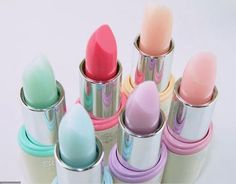 Wondering to incorporate a little bit of pastel in your look Try a pastel shade . - Fall for pastel colours - Mint Lipstick Colors, Lip Colors, Pastel Colors, Green Lipstick, Pastels, White Lipstick, Pastel Purple, Aqua Blue, Makeup Brands