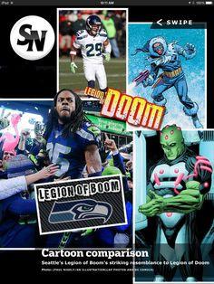 Seattle Seahawks Legion of Boom and DC Comics Legion of Doom 407f42c4f