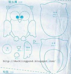 Owl pattern (felt)