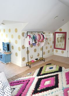 Cute girl's room with a touch of glam